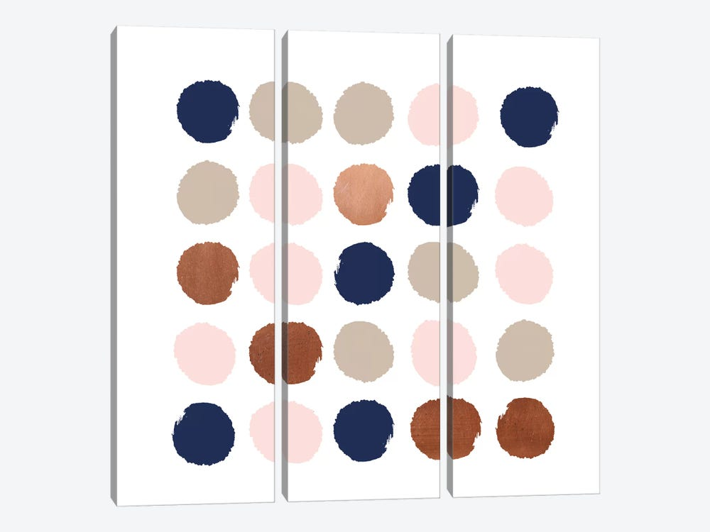 Skadi Dots by Charlotte Winter 3-piece Art Print