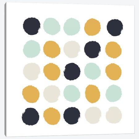 Tinsley Dots Canvas Print #CHW110} by Charlotte Winter Canvas Art