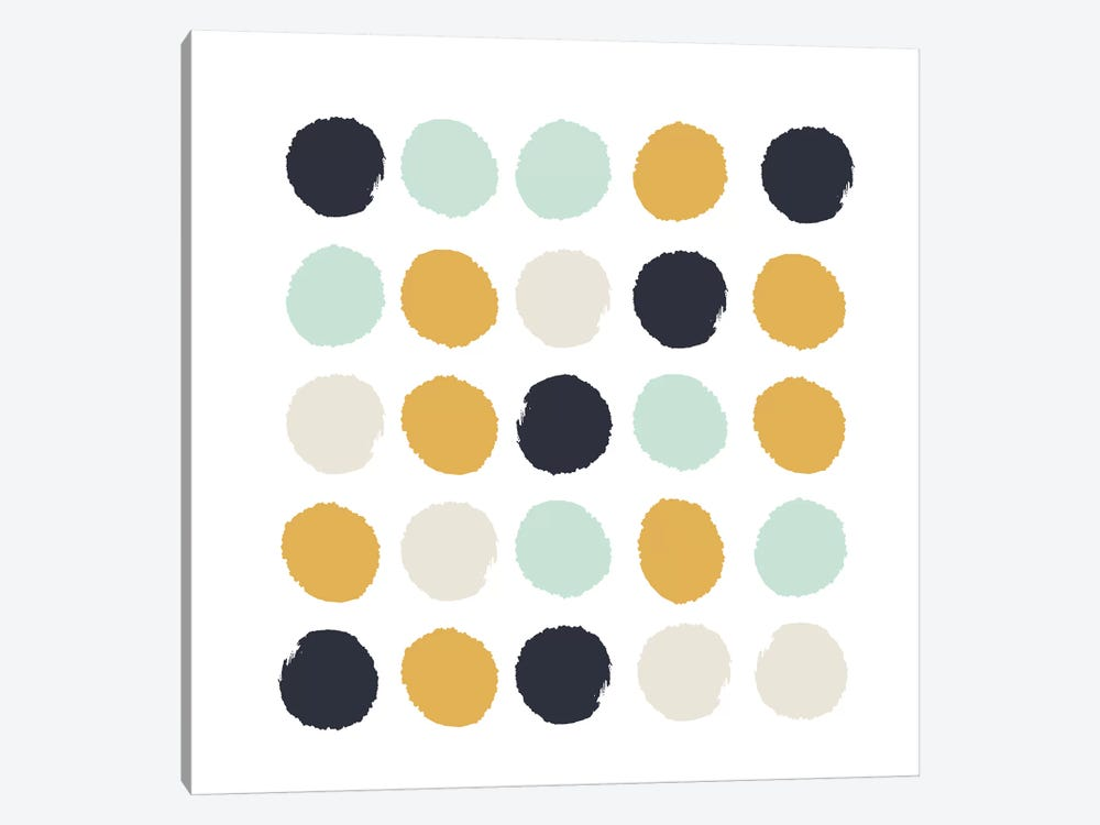 Tinsley Dots by Charlotte Winter 1-piece Canvas Art Print