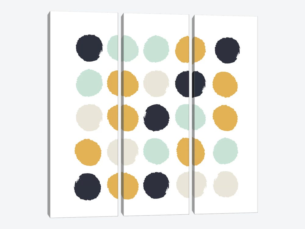 Tinsley Dots by Charlotte Winter 3-piece Canvas Print