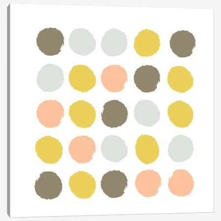 Upton Dots Canvas Print #CHW113} by Charlotte Winter Canvas Artwork