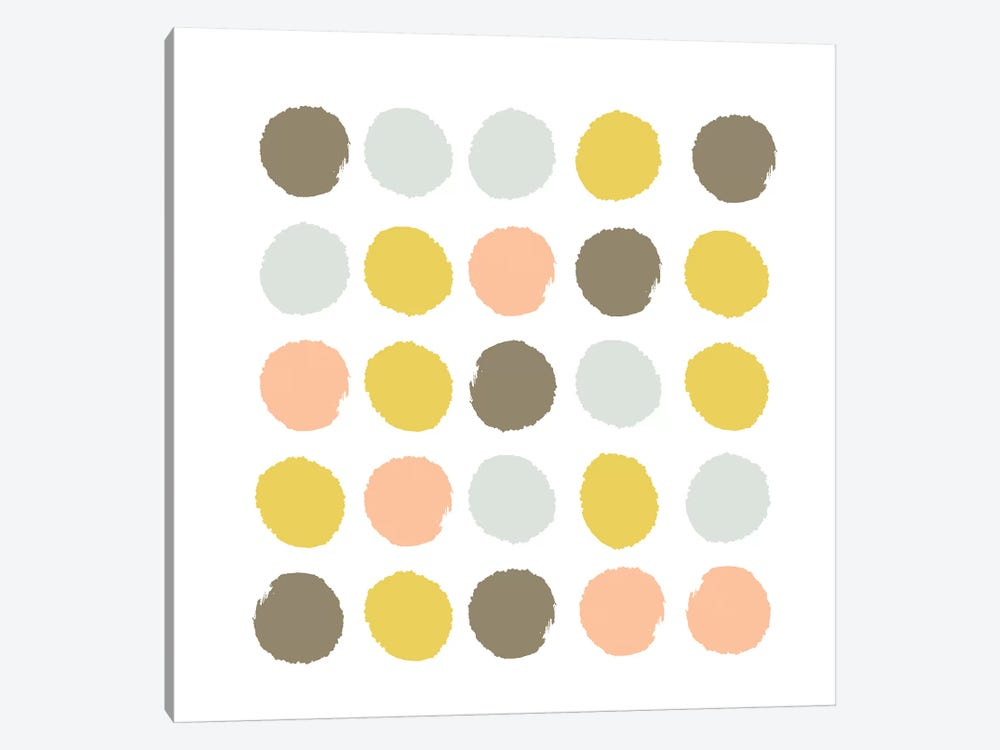 Upton Dots by Charlotte Winter 1-piece Canvas Artwork