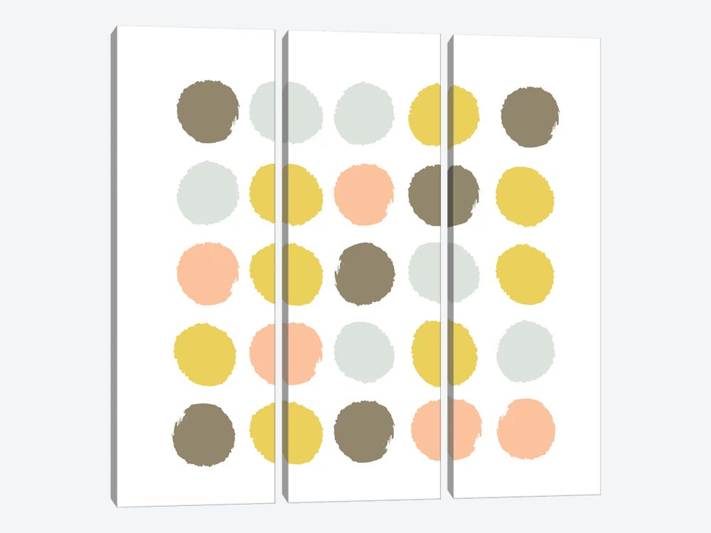 Upton Dots by Charlotte Winter 3-piece Canvas Wall Art