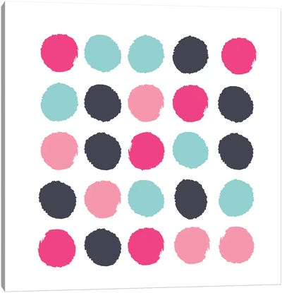 Vivi Dots Canvas Art Print