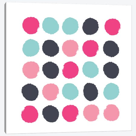 Vivi Dots Canvas Print #CHW116} by Charlotte Winter Canvas Print