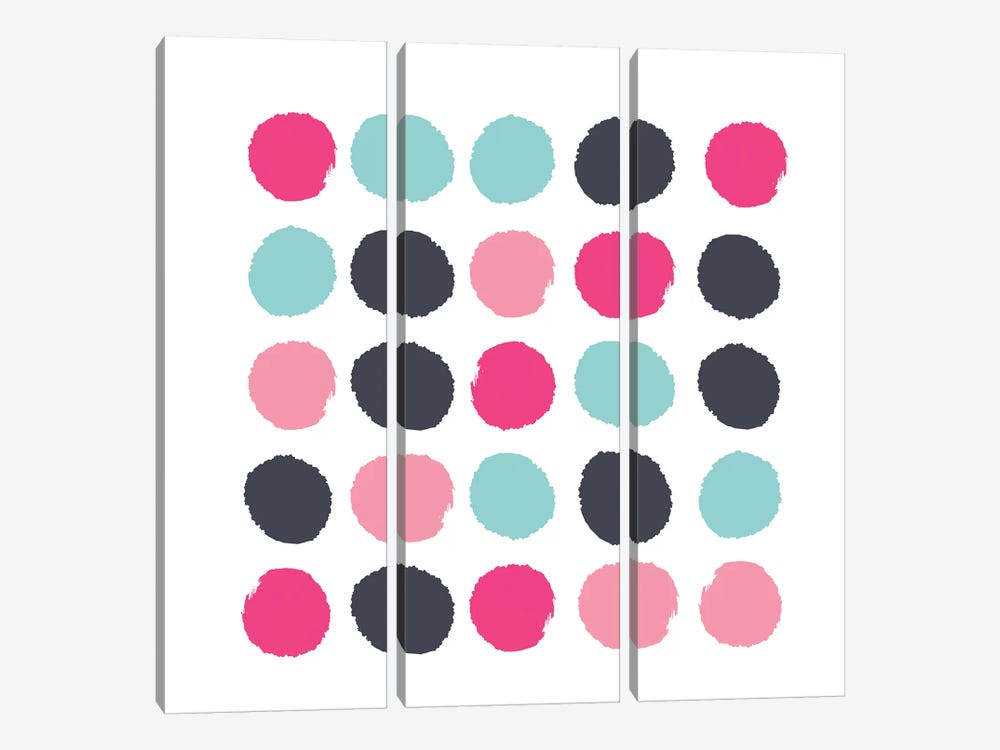 Vivi Dots by Charlotte Winter 3-piece Canvas Art Print
