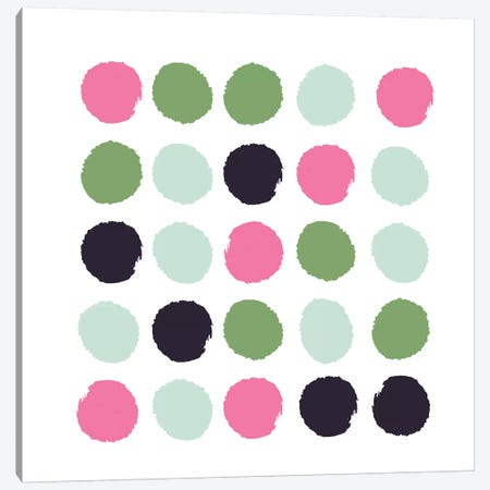 Cass Dots Canvas Print #CHW16} by Charlotte Winter Canvas Art Print