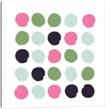 Cass Dots Canvas Art Print