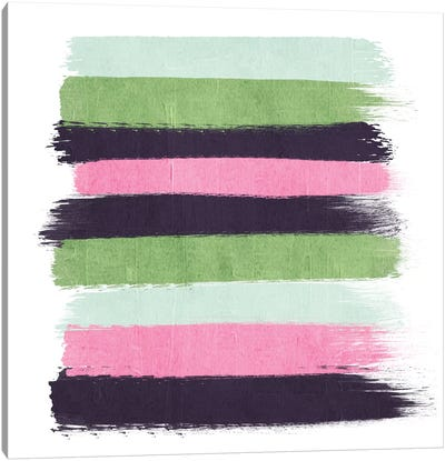 Cass Stripes Canvas Art Print