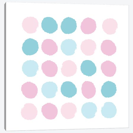 Danni Dots Canvas Print #CHW24} by Charlotte Winter Canvas Wall Art