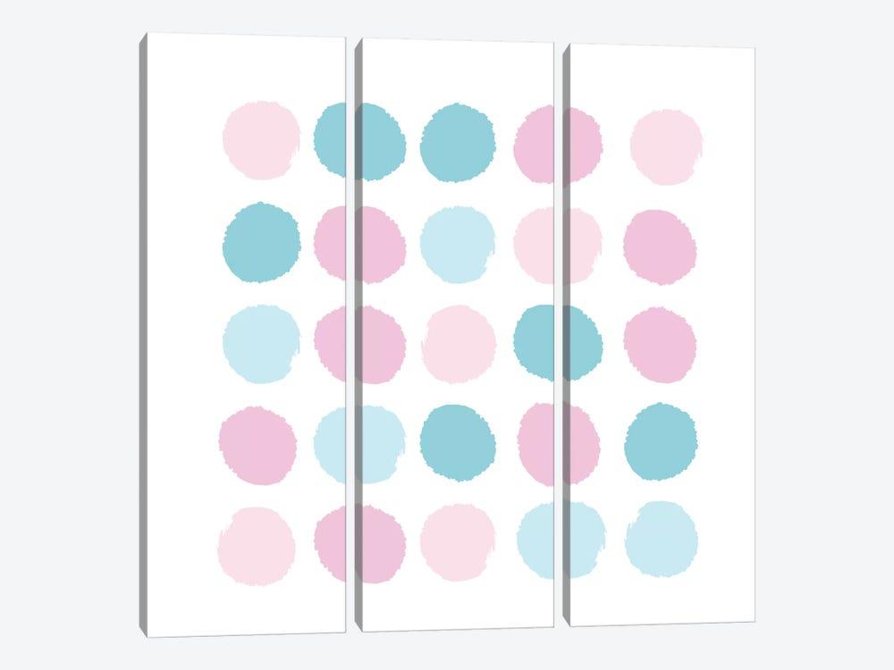 Danni Dots by Charlotte Winter 3-piece Canvas Art