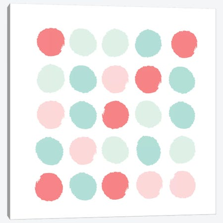 Florence Dots Canvas Print #CHW36} by Charlotte Winter Canvas Art Print