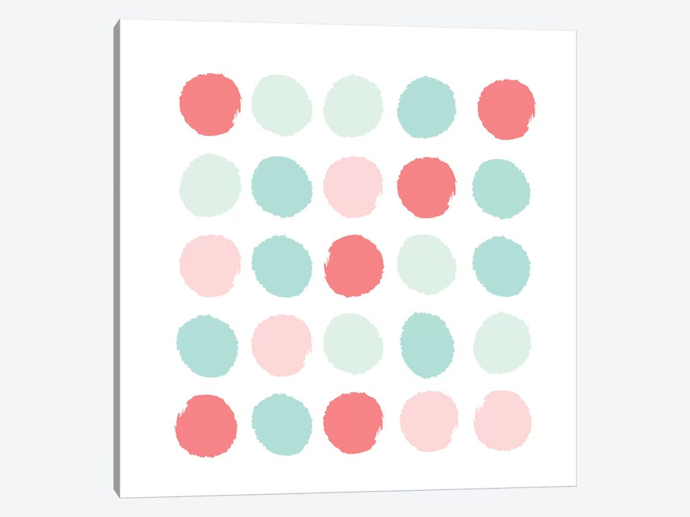 Florence Dots by Charlotte Winter 1-piece Canvas Print