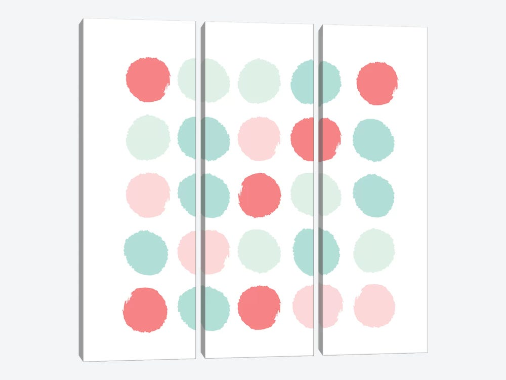 Florence Dots by Charlotte Winter 3-piece Canvas Print