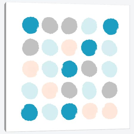 Freya Dots Canvas Print #CHW39} by Charlotte Winter Canvas Wall Art