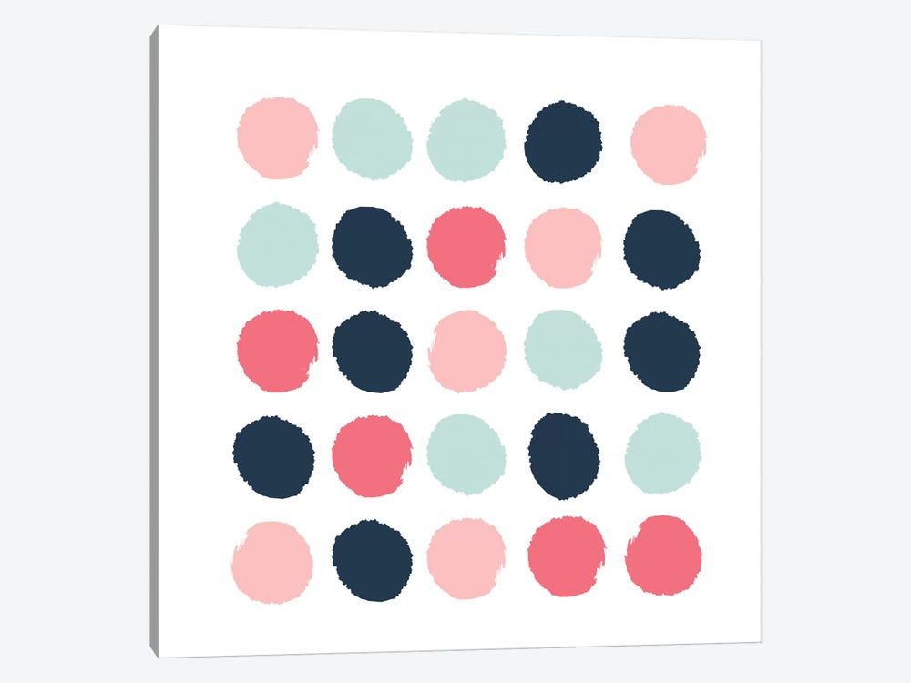 Isla Dots by Charlotte Winter 1-piece Canvas Wall Art