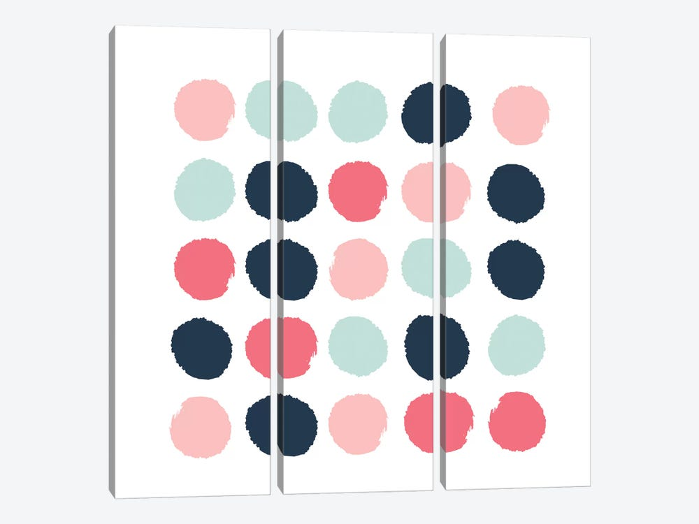 Isla Dots by Charlotte Winter 3-piece Canvas Wall Art