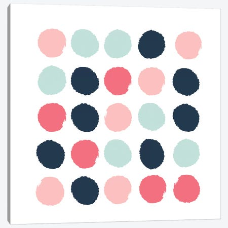 Isla Dots Canvas Print #CHW44} by Charlotte Winter Canvas Art
