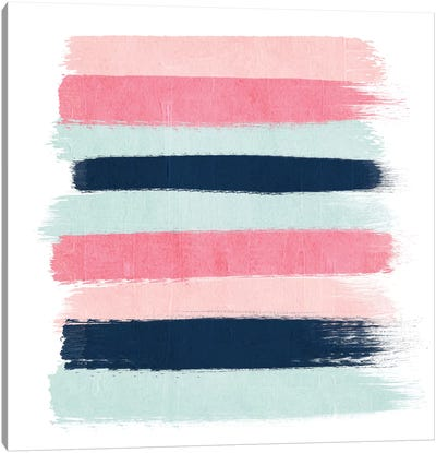 Isla Stripes Canvas Art Print