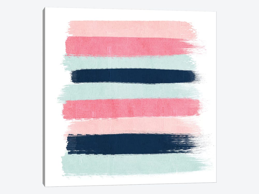 Isla Stripes by Charlotte Winter 1-piece Canvas Art Print