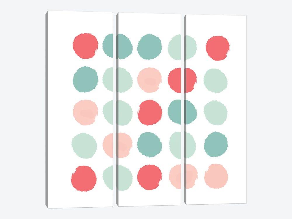 Joro Dots by Charlotte Winter 3-piece Canvas Art