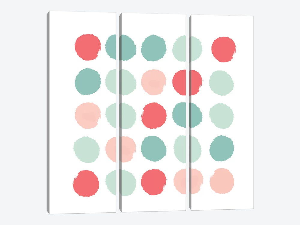 Joro Dots by Charlotte Winter 3-piece Canvas Art