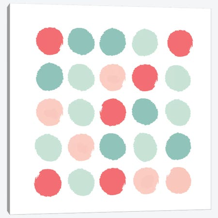 Joro Dots Canvas Print #CHW48} by Charlotte Winter Canvas Art Print