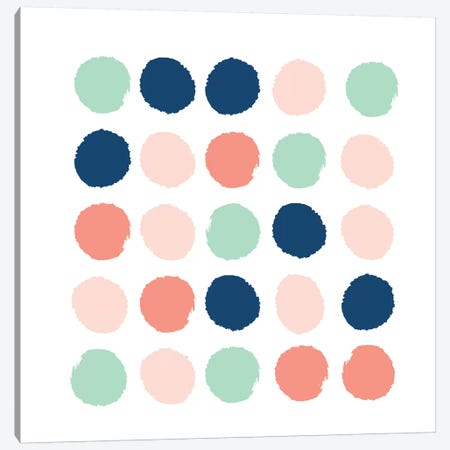 Kiela Dots Canvas Print #CHW56} by Charlotte Winter Canvas Art Print