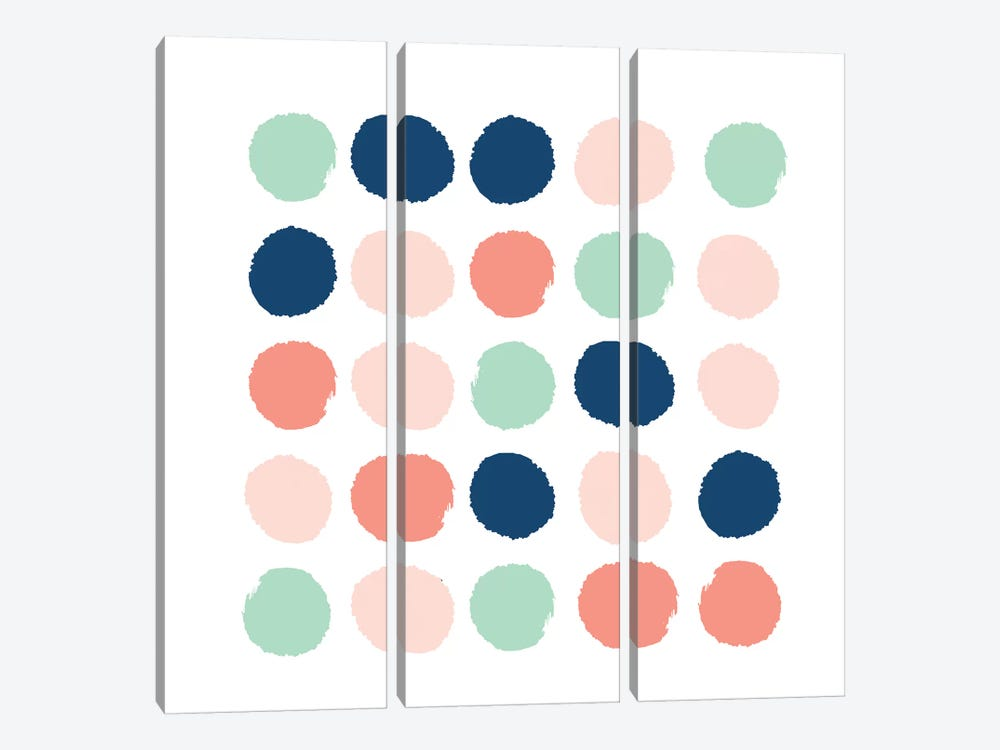 Kiela Dots by Charlotte Winter 3-piece Canvas Art Print