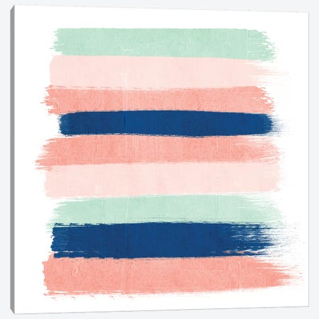 Kiela Stripes Canvas Print #CHW57} by Charlotte Winter Art Print