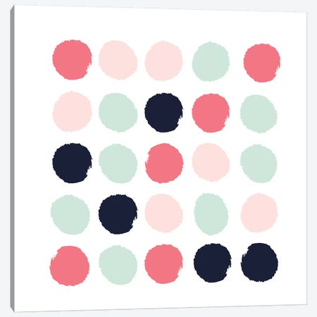 Loral Dots Canvas Print #CHW62} by Charlotte Winter Canvas Print
