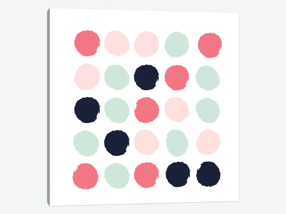 Loral Dots by Charlotte Winter 1-piece Canvas Artwork
