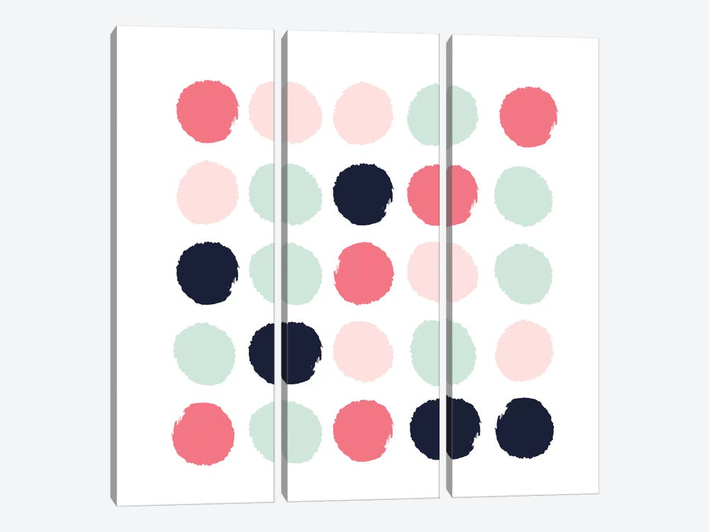 Loral Dots by Charlotte Winter 3-piece Canvas Artwork