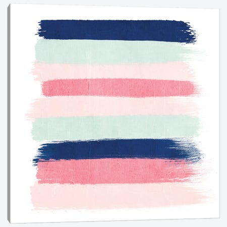 Loral Stripes Canvas Print #CHW63} by Charlotte Winter Canvas Art Print