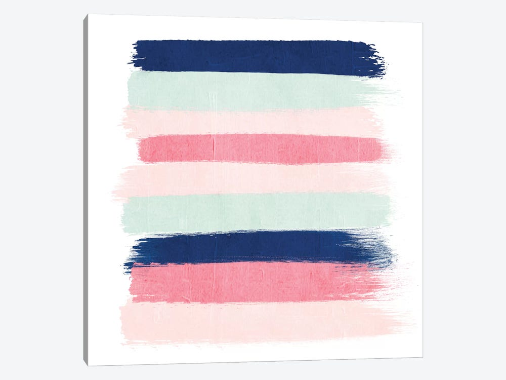Loral Stripes by Charlotte Winter 1-piece Canvas Print