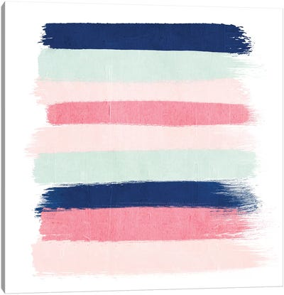 Loral Stripes Canvas Art Print