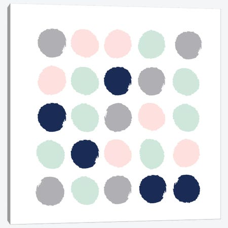 Melia Dots Canvas Print #CHW68} by Charlotte Winter Canvas Art Print