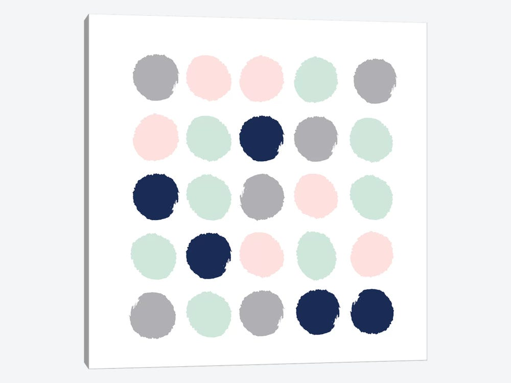 Melia Dots by Charlotte Winter 1-piece Canvas Art