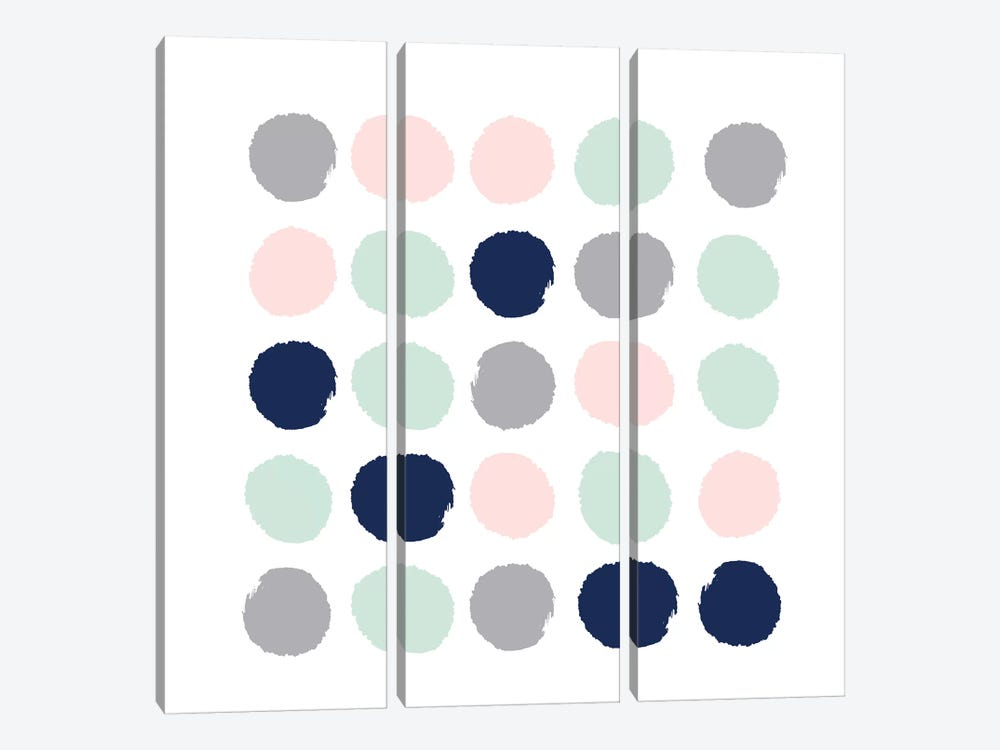 Melia Dots by Charlotte Winter 3-piece Canvas Wall Art