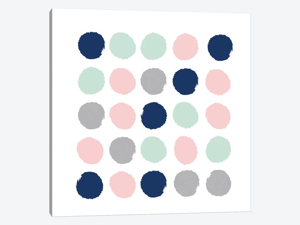 Ostara Dots by Charlotte Winter 1-piece Canvas Print