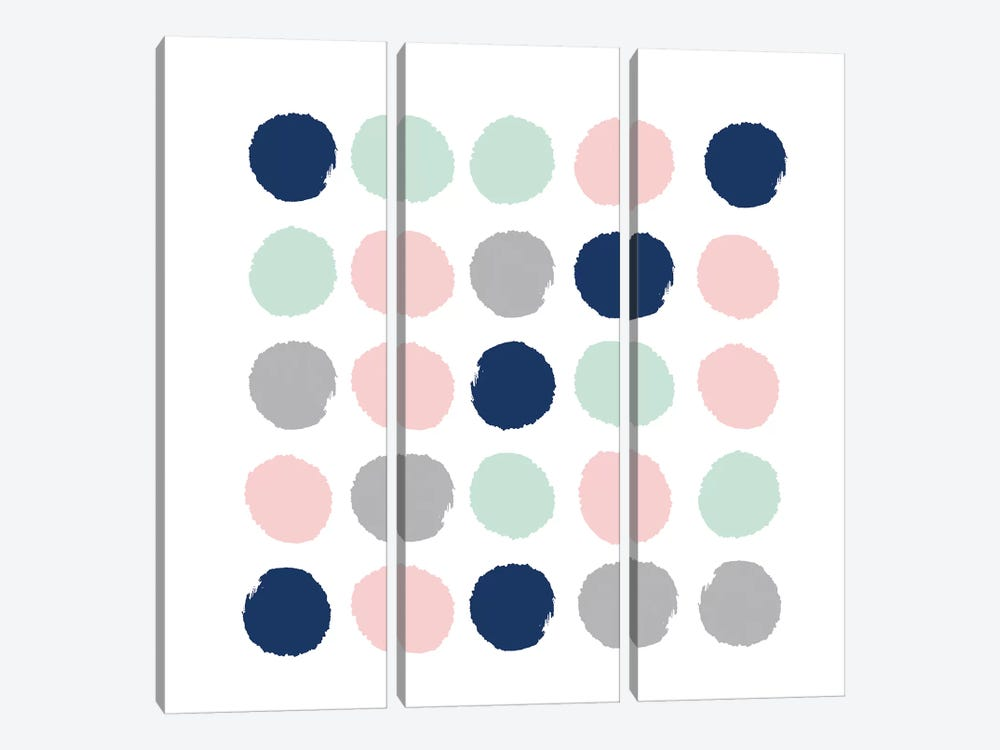 Ostara Dots by Charlotte Winter 3-piece Art Print