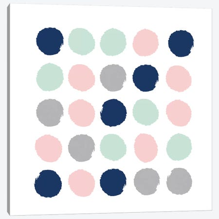 Ostara Dots Canvas Print #CHW78} by Charlotte Winter Canvas Wall Art