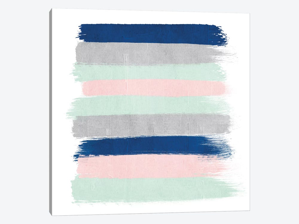 Ostara Stripes by Charlotte Winter 1-piece Canvas Art