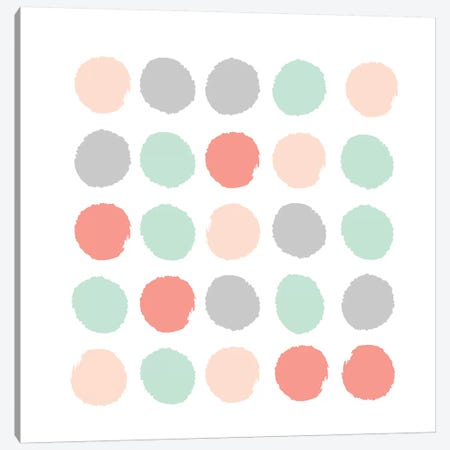 Pippa Dots Canvas Print #CHW83} by Charlotte Winter Art Print