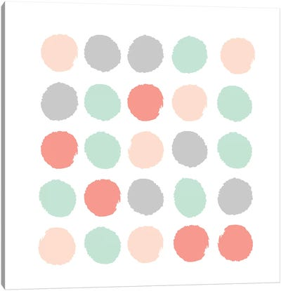 Pippa Dots Canvas Art Print