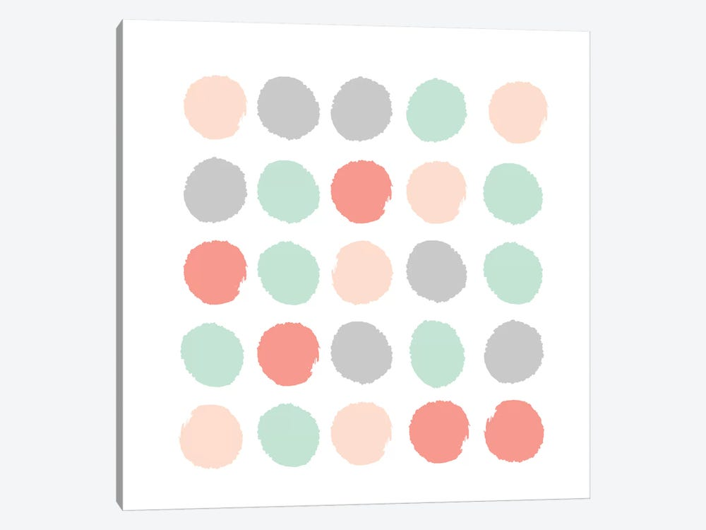 Pippa Dots by Charlotte Winter 1-piece Canvas Print