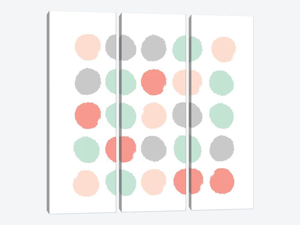 Pippa Dots by Charlotte Winter 3-piece Art Print