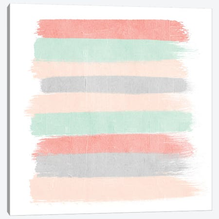 Pippa Stripes Canvas Print #CHW86} by Charlotte Winter Canvas Art
