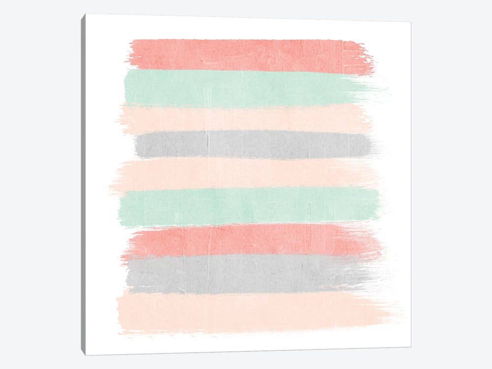 Pippa Stripes by Charlotte Winter 1-piece Canvas Wall Art