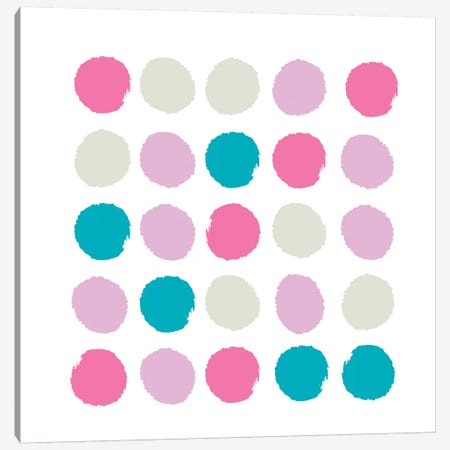 Rhea Dots Canvas Print #CHW89} by Charlotte Winter Canvas Print
